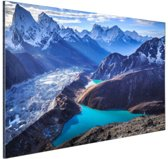 Himalaya landschap Nepal Aluminium 30x20 cm - klein - Foto print op Aluminium (metaal wanddecoratie)