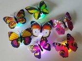 Led vlinders muurversiering