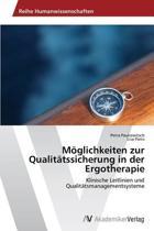 Moglichkeiten Zur Qualitatssicherung in Der Ergotherapie