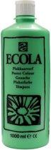 Plakkaatverf Ecola flacon van 1.000 ml, lichtgroen