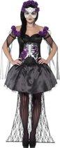 """""""Mexicaans paars skeletten Halloween kostuum voor vrouwen  - Verkleedkleding - Medium"""""""