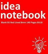 Idea Notebook Blank B5 Red Lined 8mm 140 Pages Bulb