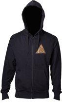 Zelda - Golden Triforce Logo heren hoody vest met capuchon zwart - XL - Games merchandise
