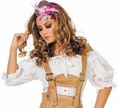 Tiroler Dirndl blouse luxe kort wit voor dame