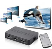 DrPhone SWITCHX3 HDMI Switch, 3 Poort 3 Ingangen 1 Uitgang Full HD Switcher Splitter Box Ultra HD voor DVD HDTV Xbox PS3 PS4 / PS4 Pro - Inclusief 1 meter MICRO USB kabel