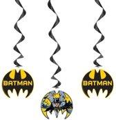 3x Batman  thema hangdecoratie - 57 cm - versiering