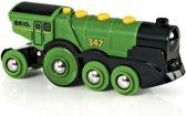 BRIO Grote groene locomotief op batterijen - 33593