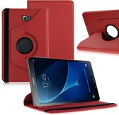 Samsung Galaxy Tab A 10.1 (2016) draaibare cover hoes Rood