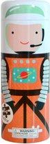 Petit Collage Puzzel Astronaut In De Ruimte In Spaarpot
