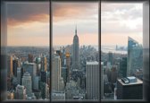 Fotobehang City New York Skyline Empire State | XXXL - 416cm x 254cm | 130g/m2 Vlies