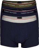 Tommy Hilfiger boxershorts (3-pack) - blauw met gekleurde tailleband -  Maat L