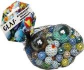 79x Gekleurde glazen knikkers  - verschillende formaten glazen knikkers - Buitenspelen - Knikkeren