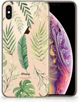 iPhone Xs Max  TPU-siliconen Hoesje Leaves