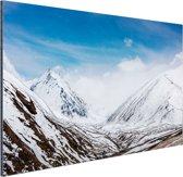 Toppen Himalaya in winter Aluminium 120x80 cm - Foto print op Aluminium (metaal wanddecoratie)