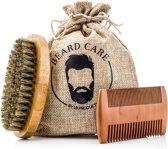 LB products™ - Baardverzorging set - Baard Onderhouden - Baardkam met Baardborstel - verzorging - Haarverzorging - Gift set - Baard set - cadeau heren