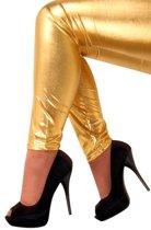 Legging goud stretch Maat S / M