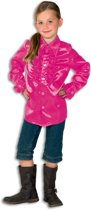 Ruches blouse satijn pink