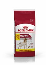 Royal Canin Medium Adult - Hondenvoer - 15 kg + 3 kg