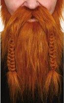 Rode vikingen baard met vlechten