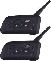 2  stuks Motor Headset - Draadloze Communicatie - Intercom voor Motorhelm