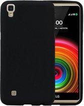 LG X Style K200 Zwart | Sand Look TPU Hoesje  | WN™