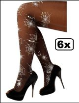 6x Panty spinnenweb print
