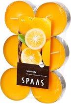 Spaas Citronella theelichten 12 XL - Geel