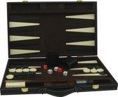 Longfield Games Backgammon 18 Inch - Kunstleder Bruin/Ecru