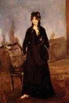 Young Woman with a Pink Shoe Portrait of Berthe Morisot by Edouard Manet - 186