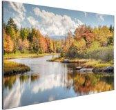 Herfstlandschap  Aluminium 120x80 cm - Foto print op Aluminium (metaal wanddecoratie)