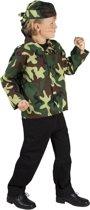 Soldaat Set Camouflage Bandana en Vest - 7-9 Jaar
