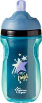 Tommee Tippee - Explora insulated straw anti-lek beker - blauw