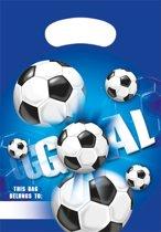 Voetbal Uitdeelzakjes Feest 6 stuks