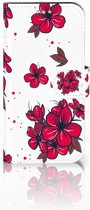 Samsung Galaxy S7 GSM Hoesje Design Blossom Red