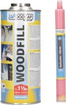 Woodfill Houtrotvuller en Verharder – 800 ml + 40 ml