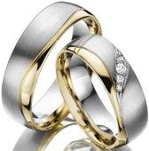 Schitterende Ringen.Nl Ring  - Unisex - Staal - 21.50 mm (68)