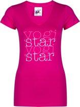 "Yoga-shirt ""yogistar"" - pink L Loungewear shirt YOGISTAR"
