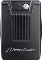 PowerWalker 10121024 Line-Interactive 600VA 2AC-uitgang(en) Toren Zwart UPS