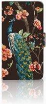 Huawei Honor 6X Boekhoesje Design Pauw met Bloemen