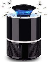 Anti muggenlamp - Krachtige geruisloze insectenlamp - UV lichtring - Zwart