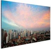 FotoCadeau.nl - Wolken boven Sao Paulo Aluminium 120x80 cm - Foto print op Aluminium (metaal wanddecoratie)