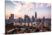 Skyline van Beijing Aluminium 60x40 cm - Foto print op Aluminium (metaal wanddecoratie)