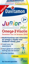 Davitamon Junior 3+ Omega-3 Visolie - voedingssupplement - 60 capsules