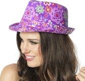 Gangster hoed bloem paars