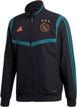 adidas Ajax Sportjas - Maat XXL  - Mannen - zwart/ petrol blauw/ oranje