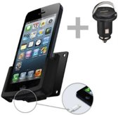 60195 Kram Fix2Car Passive Holder Tilt Swivel incl. 12V USB Car Charger Apple iPhone 5/5S/SE