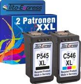 PlatinumSerie® Spaarset 2 patroon XXL alternatief voor Canon PG-545XL & CL-546XL