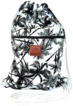Rugtas Palms| T-Bags | 100% Katoen | 14 Liter | Zwart & Wit | Comfortabel