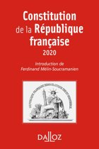 Constitution de la République française. 2020 - 17e éd.