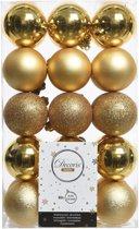 Kerstballen Mix (6cm) Box 30 Stuks Licht Goud